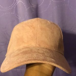Pink suede Guess hat
